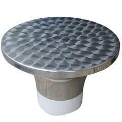 Directional Aluminum Coffee Side Table