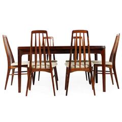 Amazing 1960s Rosewood Dining Table and Chairs, Koefoed & Kjaernulf