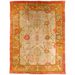 Early 19th Century Wool Oushak Carpet