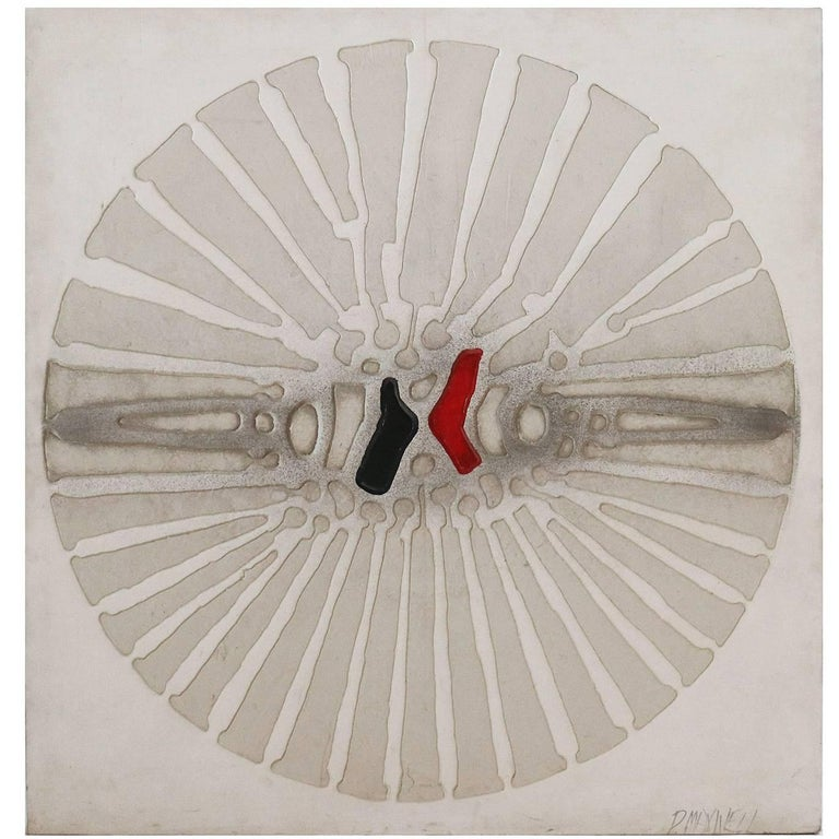 Abstract Fragmanted Circle Painting by Paul Maxwell For Sale