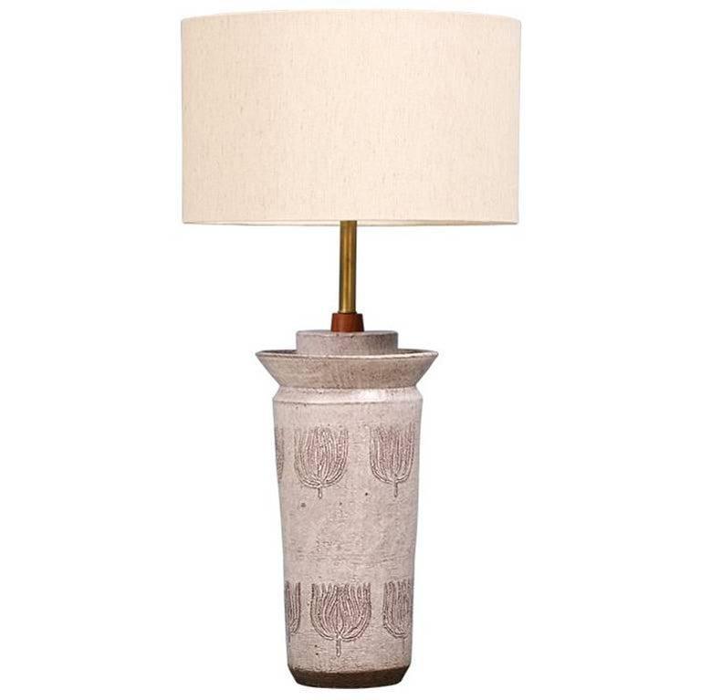 Aldo Londi Ceramic Table Lamp for Bitossi
