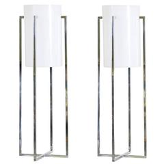 Paul Mayen Chrome and Acrylic Table Lamps for for Habitat
