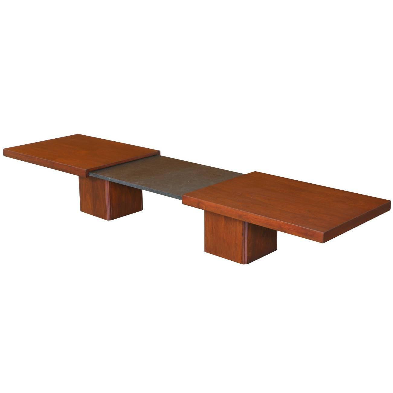 Early John Keal Expanding Coffee Table For Brown Saltman At 1stdibs