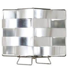 French Modernist Aluminum Table Lamp by Max Sauze