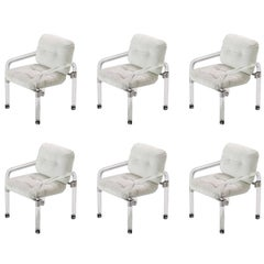 "Set of Six ""Pipe Line Series II Chairs"" in Molded Lucite by Jeff Messerschmidt"