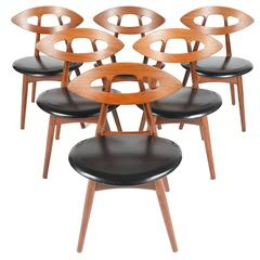 Set of Six Ejvind A. Johansson Eye Dining Chairs