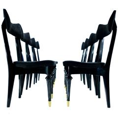 Arturo Pani Set of Eight Chairs