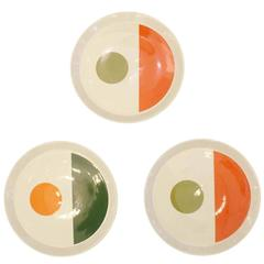 Set of Three Gio Ponti Plates #2, Italy, 1960s
