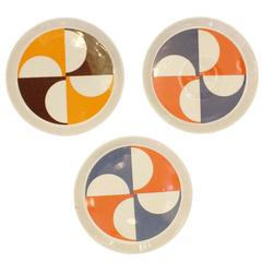 Set of Three Gio Ponti Plates #3, Italy, 1960s
