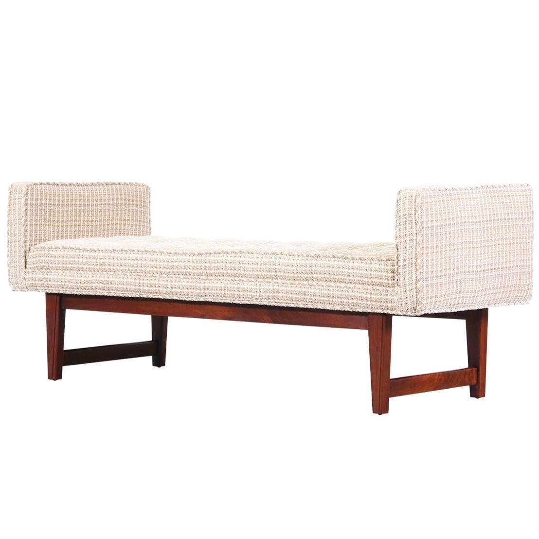 Mid Century Modern Button Tufted Bench At 1stdibs