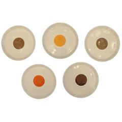 Set of Five Gio Ponti Plates #1, Italy, 1960s