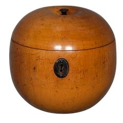 18th Century Apple Shaped Tea Caddy