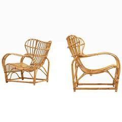 Viggo Boesen Easy Chairs by E.V.A. Nissen & Co in Denmark
