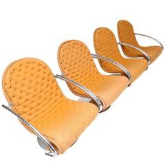 Set of Four Verner Panton Armchairs