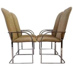 Milo Baughman for DIA Chrome Dining Chairs