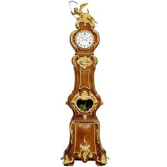Fine Louis XV Style Ormolu Mounted Long Case Clock by Lenoir, Paris