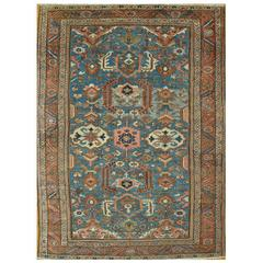 Antique Room Size Hand-Knotted Persian Serapi