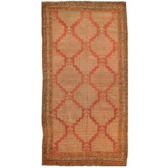 Antique Hand Knotted Wool Red Persian Meshkin Gallery Rug