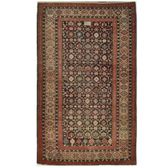 Antique Hand-Knotted Wool Caucasian Shirvan Rug