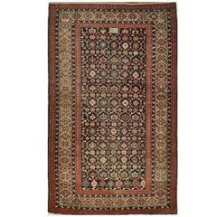 Antique Hand-Knotted Caucasian Shirvan Rug