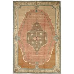 Large Room Size Savonnerie Design Turkish Rug