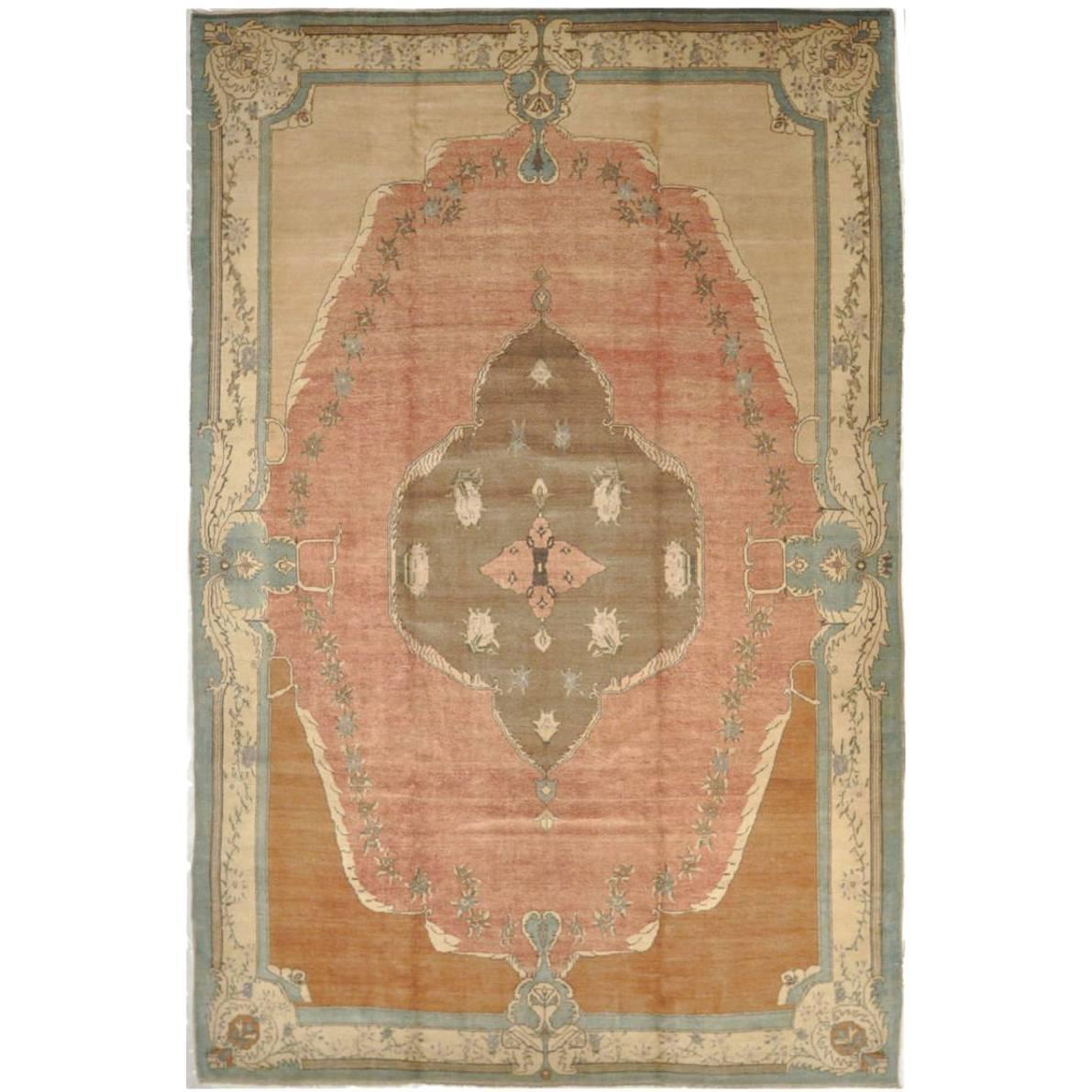 Large Room Size Savonnerie Design Turkish Rug For Sale At