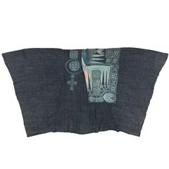Royal Blue Indigo Antique Tunic from the Yoruba of Nigeria