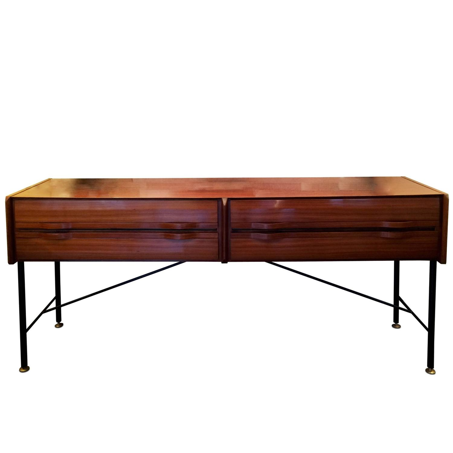 Large four drawers console table at 1stdibs for Sofa table large