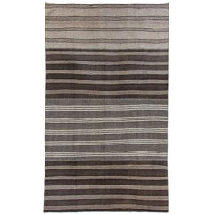 Large Striped Kilim, Flat-weave Rug