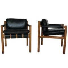 Pair of Chairs Attributed to Carlo Scarpa