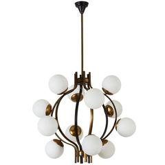 Stilnovo Twelve-Globe Chandelier