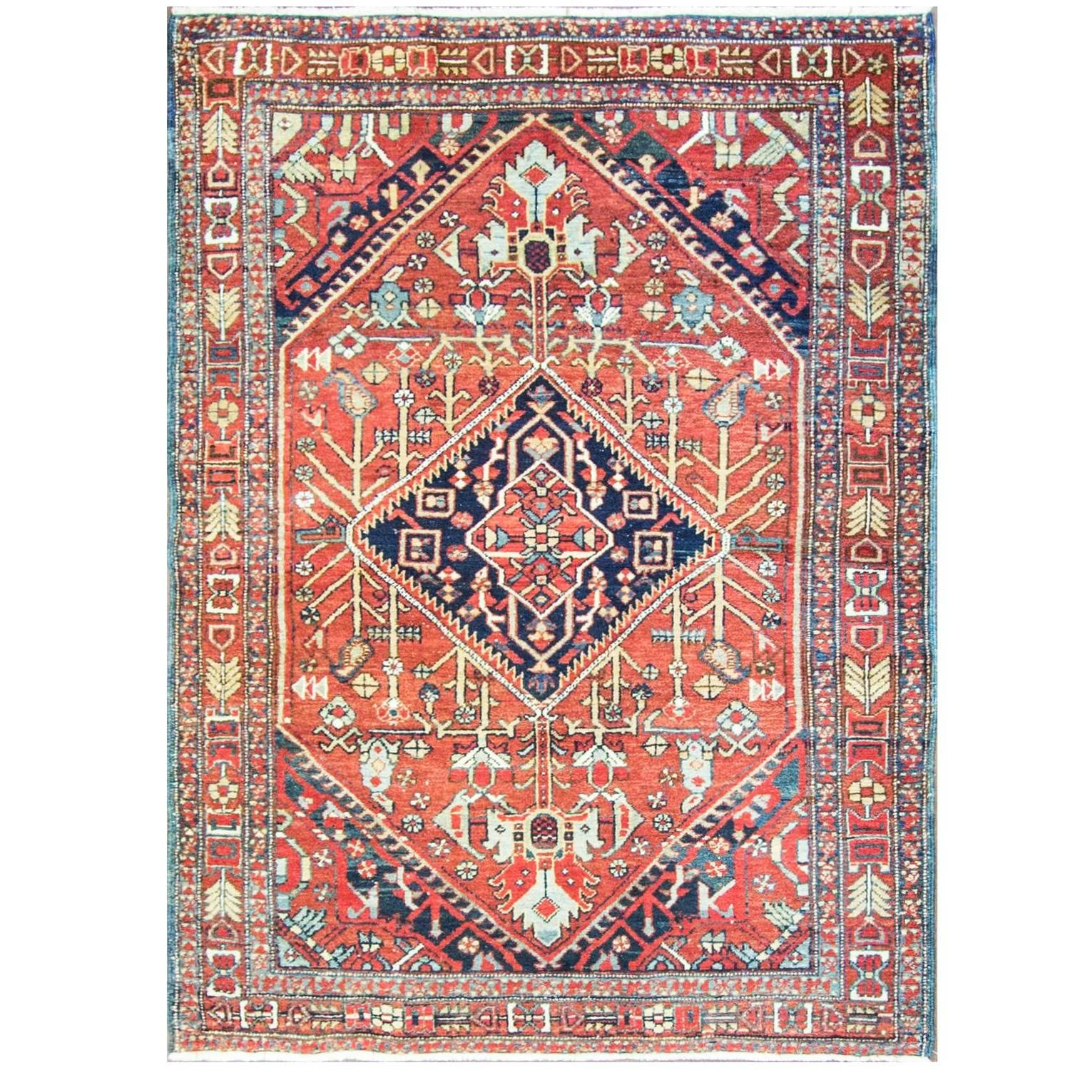 Amazing Antique Heriz Rug For Sale At 1stdibs