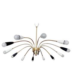 Very Large Sputnik Chandelier Pendant Light,  1950s Stilnovo Gio Ponti Era