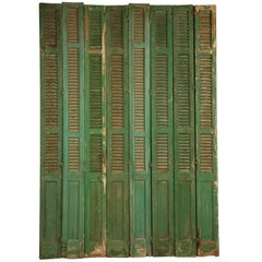 French Shutters in Original Paint