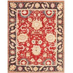 Red Vintage Indian Agra Rug