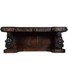 Large Carved Oak Sideboard