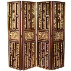 Gilt Italian Folding Screen