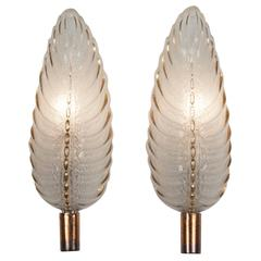 Pair of Ezan Leaf Sconces, French, 1940s