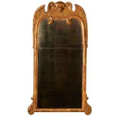 George II Carved Giltwood Mirror
