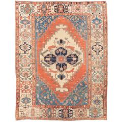 Funky But Chic Antique Persian Rug, Bakshaish