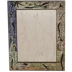 Lee Porzio Hand-Painted Ceramic Mirror