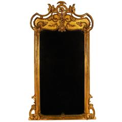 European Baroque Giltwood Pier Mirror