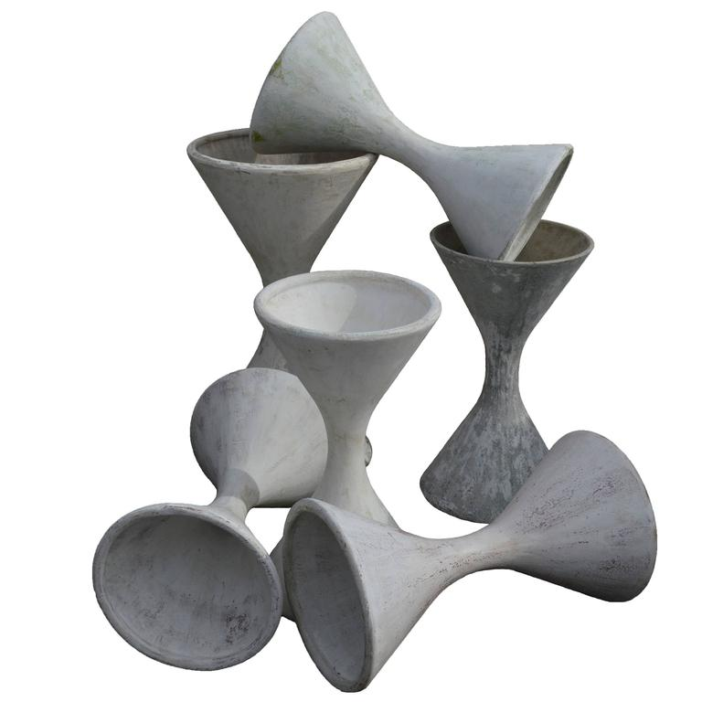 French Diabolo Planter by Willy Guhl for Eternit