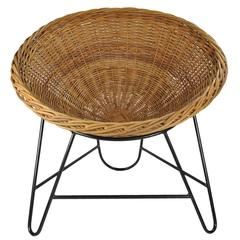 Steel Frame Wicker Basket Chairs