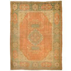 Antique Turkish Angora Wool Oushak