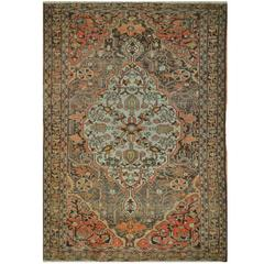 Antique Small Hand-Knotted Persian Sarouk Farahan Rug