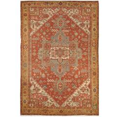 Large Room Size Antique Persian Serapi Rug