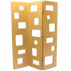 Geometric Pattern Frosted Glass Studio Made Room Divider