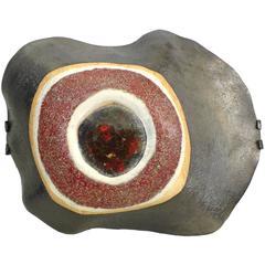 """Ceramic """"Eye"""" Hanging Wall Sculpture"""