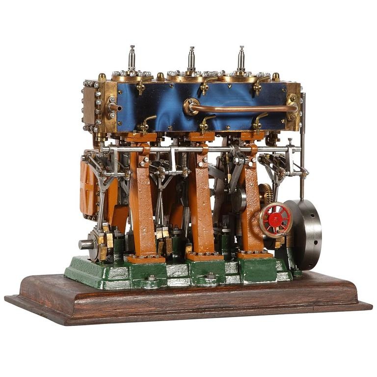 O B Bolton Triple Expansion Marine Steam Engine Model At